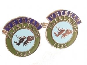 Falklands British Armed Forces Veteran 1982 Military Cufflinks